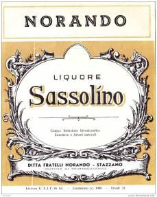 Sassolino - Etichetta