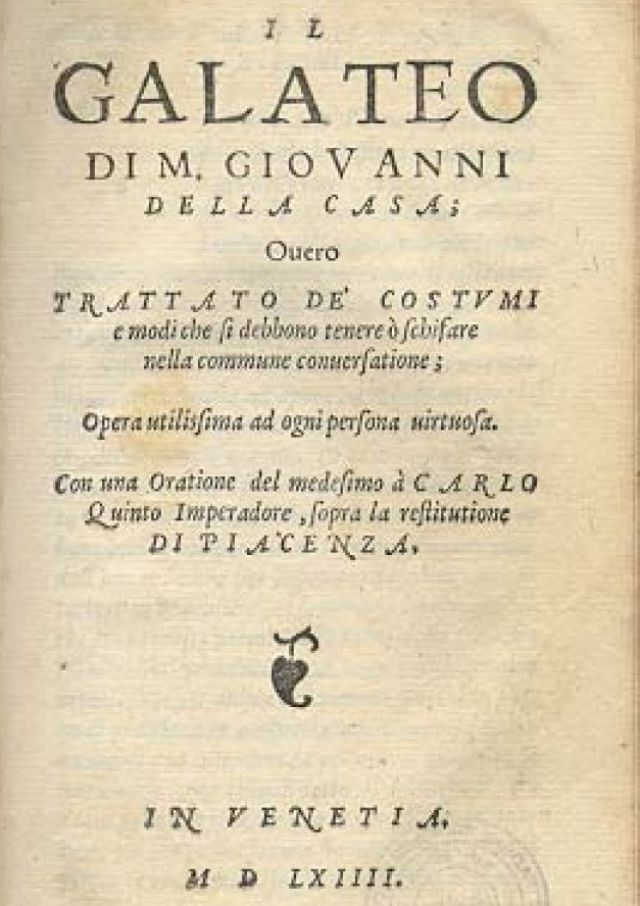 Galateo Monsignor Della Casa