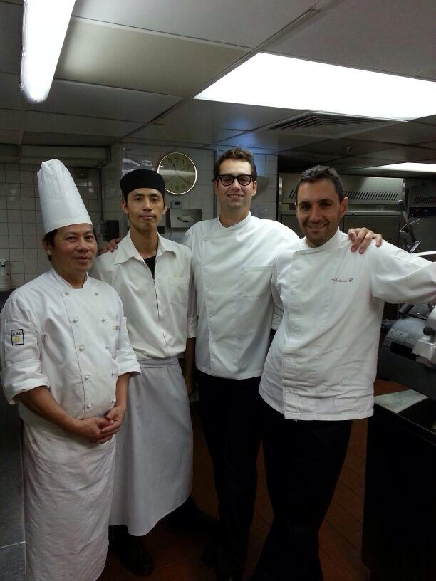 Giacomo Sacchetto , Antonio Cacciapaglia e Johnny il mio Bravissimo  Sous Chef