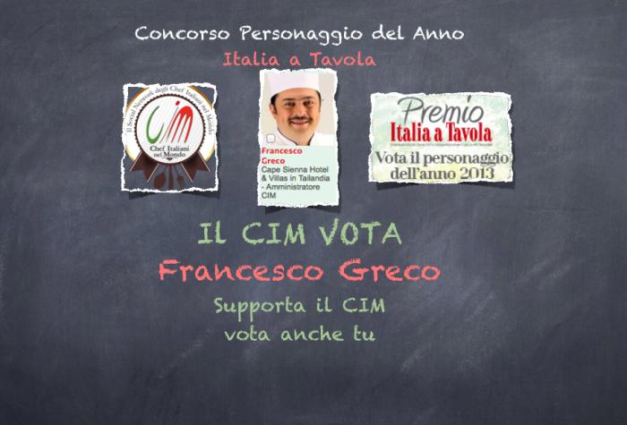 Concorso Personaggio del anno Italia a Tavola