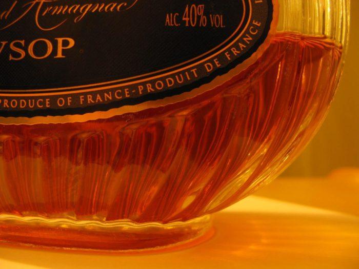 Armagnac - Particolare bottiglia VSOP