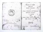 Pasticceria Gnesi livorno invito per il pranzo di addio degli americani del 1947