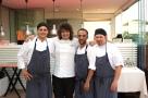 Ristorante Lux Lucis Forte dei Marmi (LU). Valentino Cassanelli con la Brigata di Cucina. Foto di Giorgio Dracopulos Critico Gastronomico