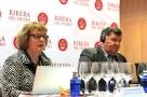 Sarah Jane Evans e Enrique Pascual Garcia alla degustazione vini della denominacion de origen Ribera del duero foto di giorgio dracopulos critico gastronomico